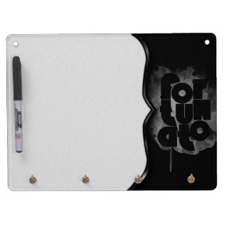 Black and Gray Fortunato Dry Erase Board With Keychain Holder