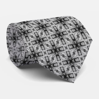 Black And Gray Geometrical Shapes Tie
