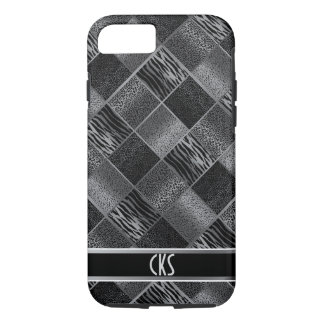 Black and Gray Jungle Animal Patterns | Monogram iPhone 7 Case
