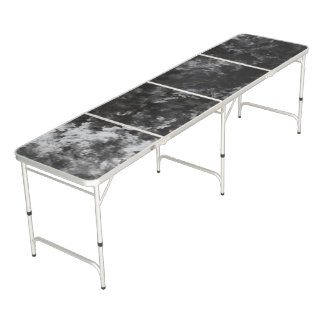 Black and Gray Marble Granite Look Beer Pong Table