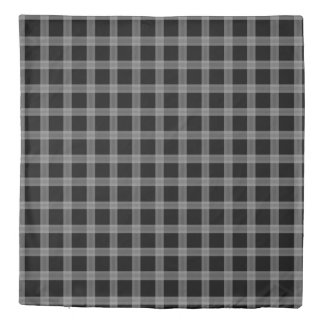 Black And Gray Plaid Pattern Duvet Cover