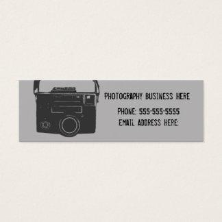 Black and Gray Retro Film Camera Business Card