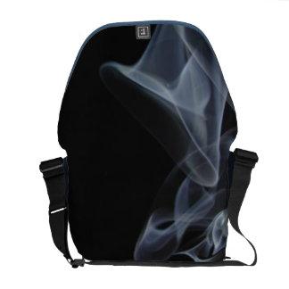 Black and Gray Smoke Rising Commuter Bag