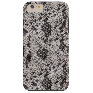 Black and Gray Snake Skin Tough iPhone 6 Plus Case