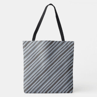 Black and Gray Tote Bag