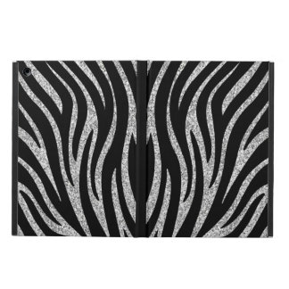 Black and gray zebra print iPad Air Case