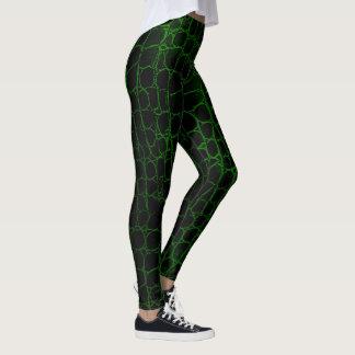 Black and Green Alligator Leggings
