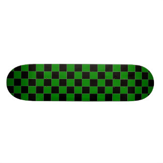 Black and Green Checkered Skateboard