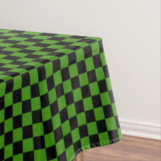 Black and Green Checkered Tablecloth