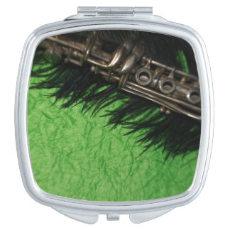 Black and Green Clarinet Makeup Mirrors