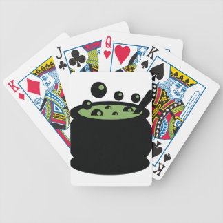 Black and Green Cooking Pot Bicycle Playing Cards