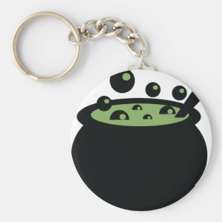 Black and Green Cooking Pot Keychain