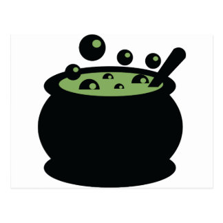 Black and Green Cooking Pot Postcard