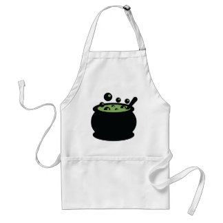 Black and Green Cooking Pot Standard Apron