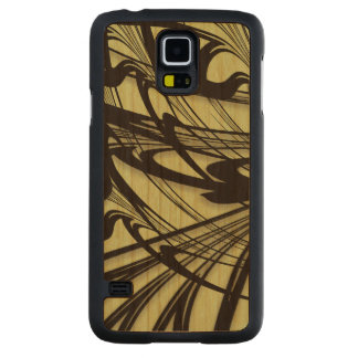 Black and Green Fern Glen Carved Cherry Galaxy S5 Case