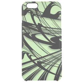 Black and Green Fern Glen Clear iPhone 6 Plus Case