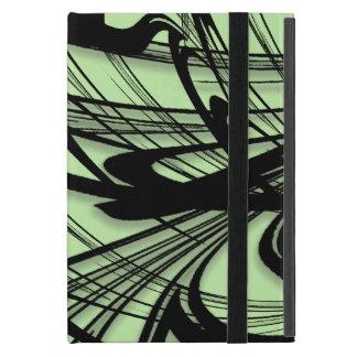 Black and Green Fern Glen iPad Mini Cover