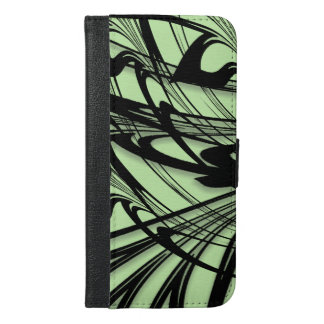 Black and Green Fern Glen iPhone 6/6s Plus Wallet Case