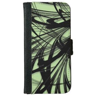 Black and Green Fern Glen iPhone 6 Wallet Case