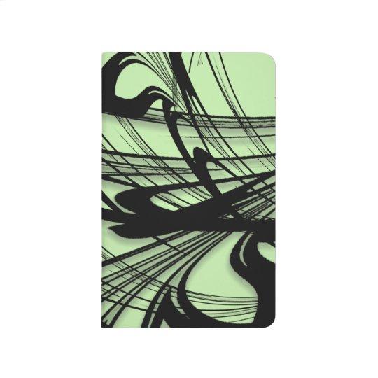 Black and Green Fern Glen Journal