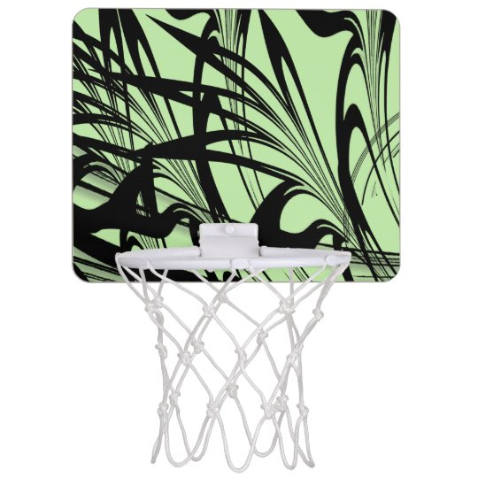 Black and Green Fern Glen Mini Basketball Hoop