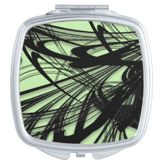 Black and Green Fern Glen Mirror For Makeup