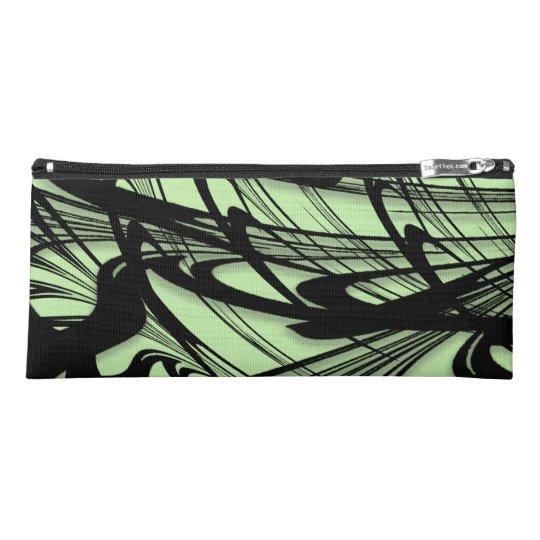Black and Green Fern Glen Pencil Case
