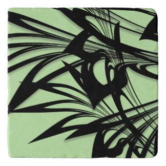 Black and Green Fern Glen Trivet