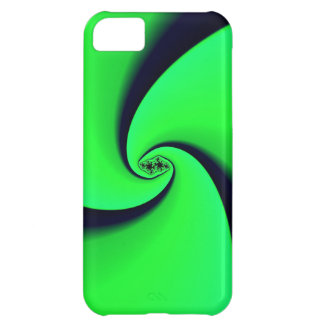 Black and Green Fractal Cover For iPhone 5C