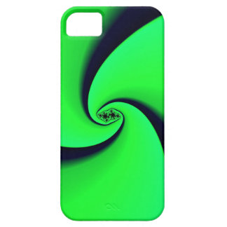 Black and Green Fractal iPhone 5 Case