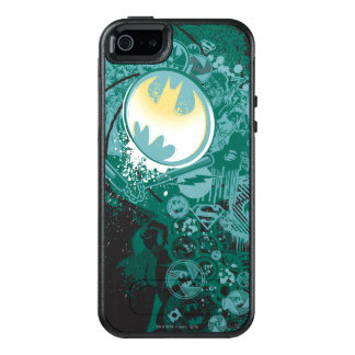 Black and Green Logo Pattern OtterBox iPhone 5/5s/SE Case