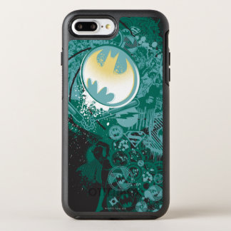 Black and Green Logo Pattern OtterBox Symmetry iPhone 7 Plus Case