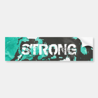 Black and green Marble Bumper Sticker