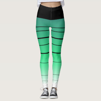 Black And Green Ombre Leggings