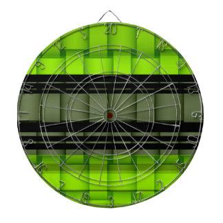 Black and green stripes wicker art graphic design dart board