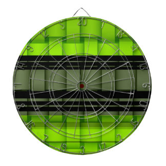Black and green stripes wicker art graphic design dartboard
