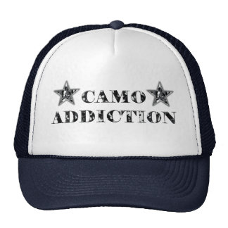 Black and Grey Camo Addiction Trucker Hat