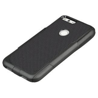 Black and Grey Carbon Fiber Polymer OtterBox Commuter Google Pixel XL Case