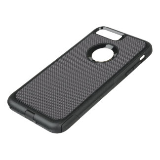 Black and Grey Carbon Fiber Polymer OtterBox Commuter iPhone 7 Plus Case