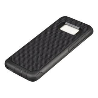 Black and Grey Carbon Fiber Polymer OtterBox Commuter Samsung Galaxy S8 Case
