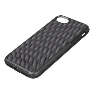 Black and Grey Carbon Fiber Polymer OtterBox Symmetry iPhone 7 Case