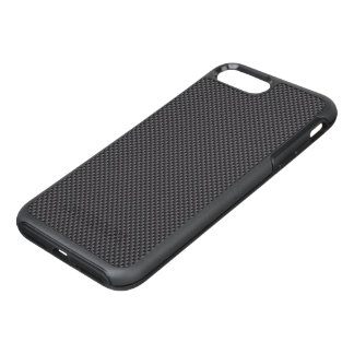 Black and Grey Carbon Fiber Polymer OtterBox Symmetry iPhone 7 Plus Case