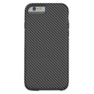 Black and Grey Carbon Fibre Base Tough iPhone 6 Case