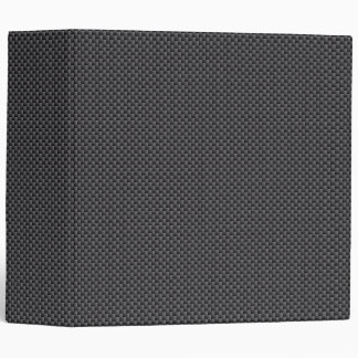 Black and Grey Carbon Fibre Polymer 3 Ring Binders
