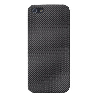 Black and Grey Carbon Fibre Polymer Case For The iPhone 5