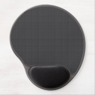 Black and Grey Carbon Fibre Polymer Gel Mouse Pad