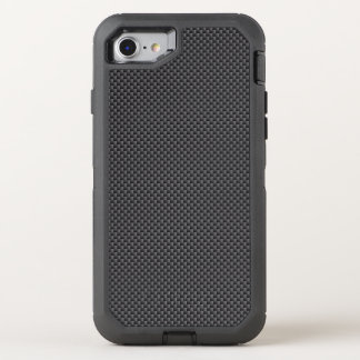 Black and Grey Carbon Fibre Polymer OtterBox Defender iPhone 8/7 Case