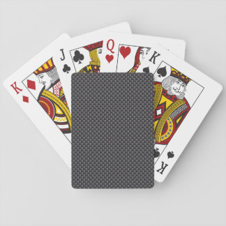 Black and Grey Carbon Fibre Polymer Poker Deck