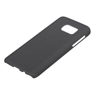 Black and Grey Carbon Fibre Polymer Samsung Galaxy S7 Case