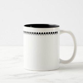 Black and Grey Circle Mug